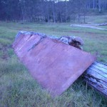 picture of geoffs checker plate metal we got from side of road
