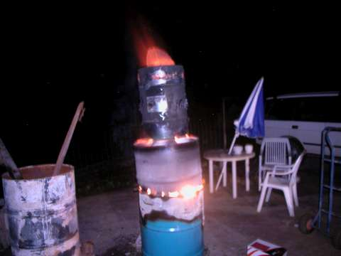 The johnny rogers biochar gasifier alight at biochar industries