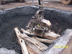 biochar pit 300x225 Biochar Pit Kiln Idea for Robert of Brenham Texas USA