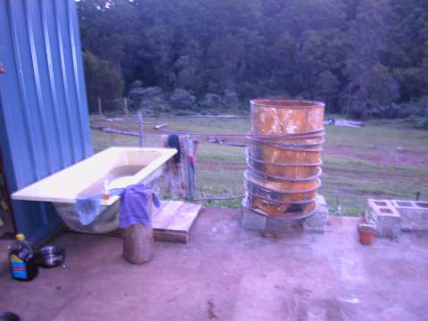 biochar industries picture of our washroom the problem is we have no hot water and its almost winter