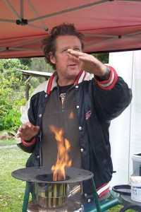 biochar with permaculture Charmaster Dolph and the Champion Tlud at Djanbung Gardens Nimbin