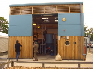 Sustainable biochar bespoke pyrolysis reactor at the UK Biochar Research Centre in Edinburgh