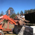 Charmaster Dolph loading biomass 150x150 Biochar production as promised 1st August 2011. Adam retort.