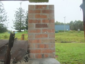 a pic of a brick chimney at biocharproject in kunghur
