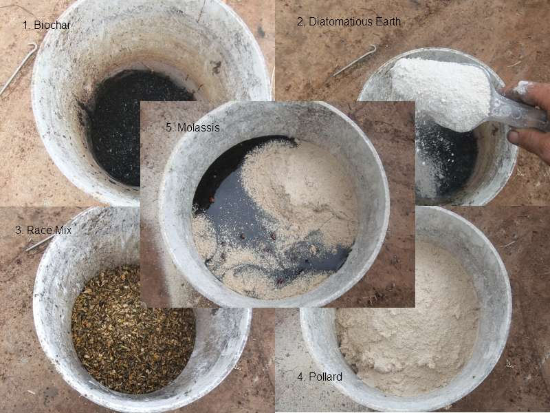 Biochar mixed up with other goodies