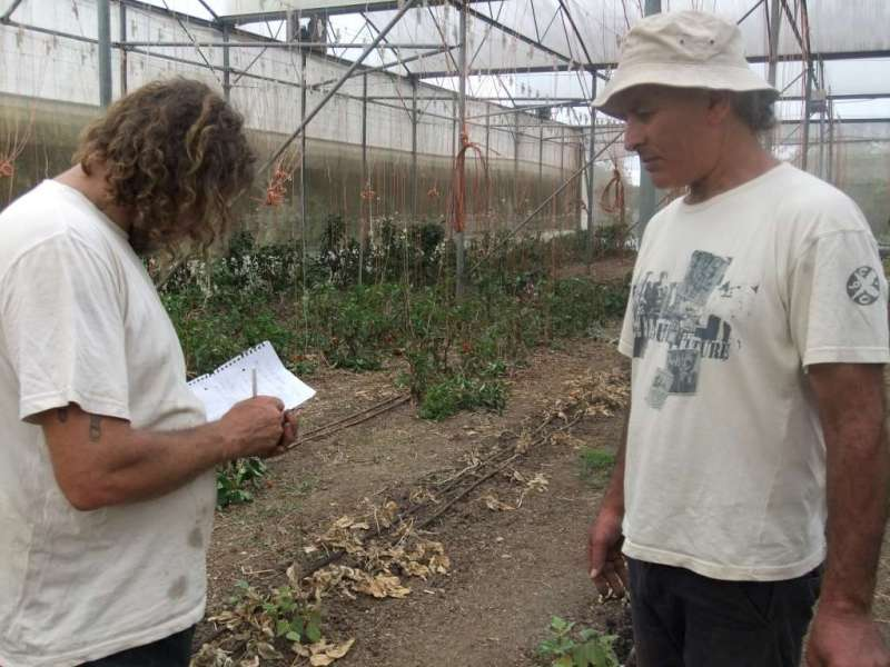 Charmaster Dolph Cooke with Organic grower