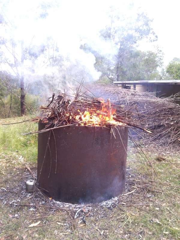 Organic Farmer uses biochar in Nimbin
