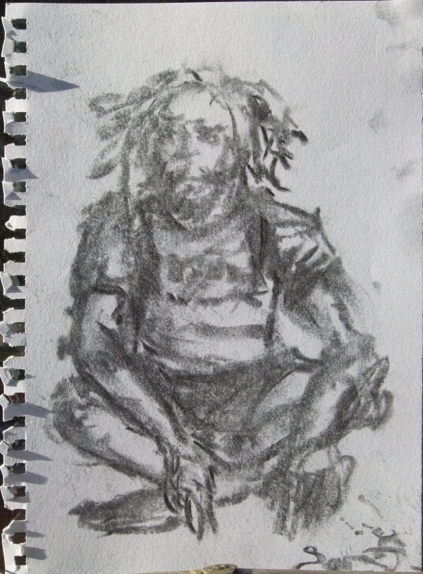 A charcoal drawing of the Charmaster